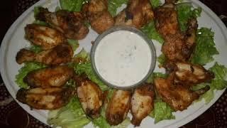 جوانح الدجاج المقرمشة بدون قلي في الفرن بتتبيلة لذيذة