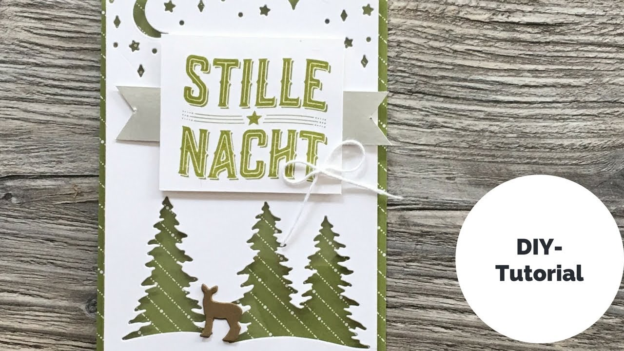 Liebenswert Edle Weihnachtskarten Basteln Referenz Von 🎄wie Ein Weihnachtslied**anleitung Für Eine Weihnachtskarte**stampin