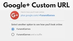 Add or change a Google+ Custom URL