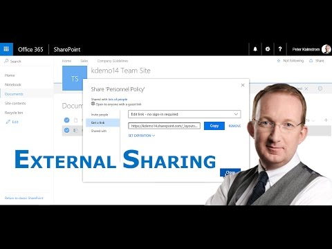 External Sharing in SharePoint Online