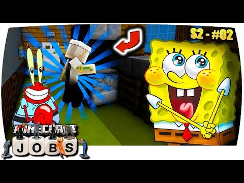 Minecraft JOBS: BURGERBRATER in der KROSSEN KRABBE! 🍔   S2 • #02