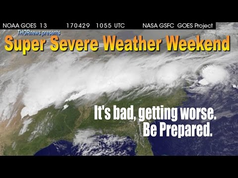 Deadly USA Storm continues to Grow - Floods, Hail, Winds through the Weekend