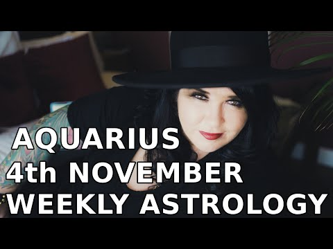 Aquarius Weekly Astrology Horoscope 4th November 2019 - YouTube