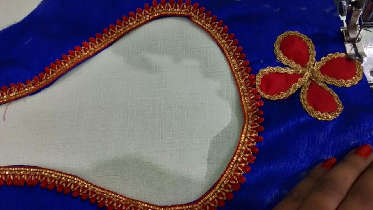 very beautiful matka gala design blouse cutting and