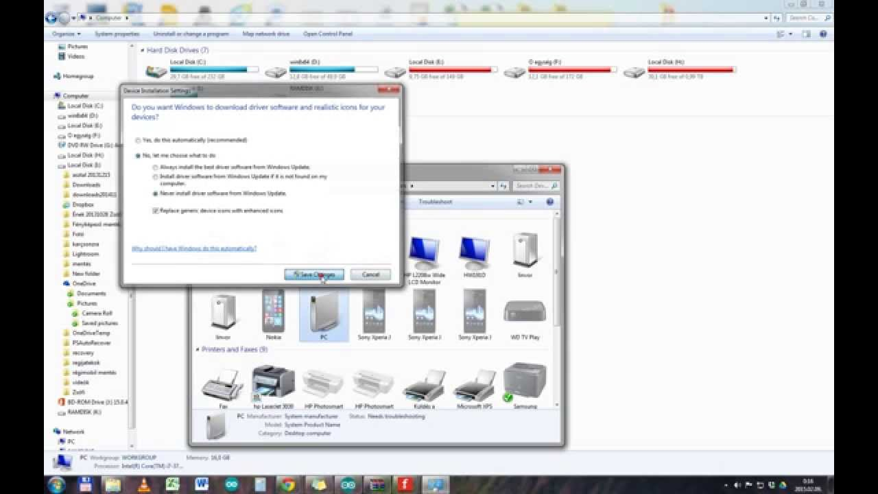 How To Turn Off Automatic Driver Installation Windows 7