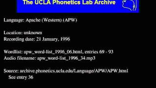 Western Apache audio: apw_word-list_1996_34