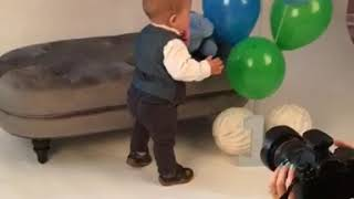 Baby Vs Teddy. KO with a left hook. Funny baby video.