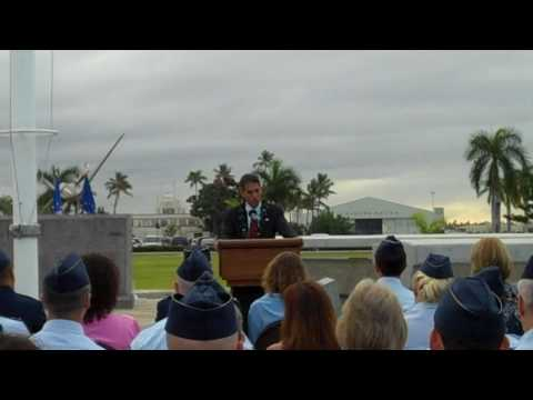 Lt. Gov. Aiona at Hickam Field on Pearl Harbor Anniversary