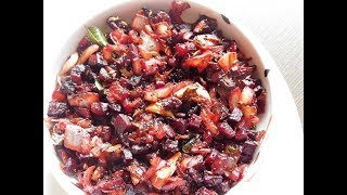 Beetroot fry | Tasty Andhra Beetroot Fry -  by Homr Recipes