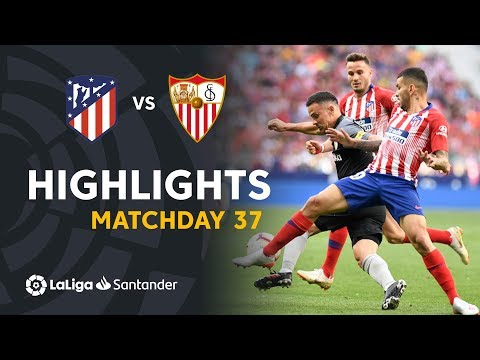 Highlights Atletico Madrid vs Sevilla FC (1-1)
