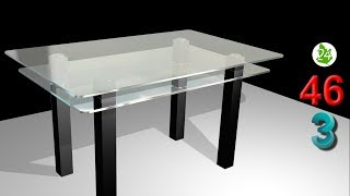 Создание стола 3DS MAX. 💥 Стеклянный стол. Современный стол. Интерьер. Курс. Обучение. Урок 46