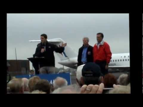 Romney Ryan Campaign Rally 9 25 12  at James M. Cox Dayton Int. Airport.wmv