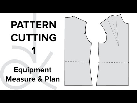 Pattern Cutting - Flat Pattern Drafting, the Bodice Block part 1