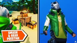 Todas las MISIONES y RECOMPENSAS DE PRESTIGE DE SMASH & GRAB en Fortnite Temporada X...