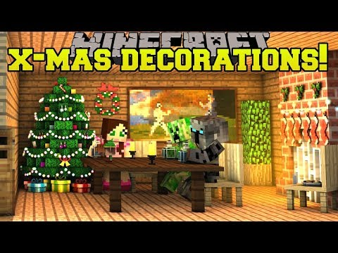 Christmas Minecraft Decorations.Minecraft Christmas Decorations Christmas Songs Lights Wreaths More Mod Showcase