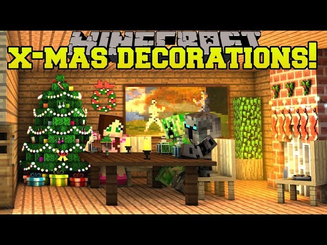 Minecraft Christmas Decorations Christmas Songs Lights Wreaths More Mod Showcase Youtube