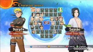 Naruto Ultimate Ninja Storm 2 Character Select Theme Extended