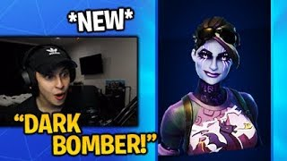 Streamers React to the *NEW* DARK BOMBER SKIN in Fortnite Item Shop 4