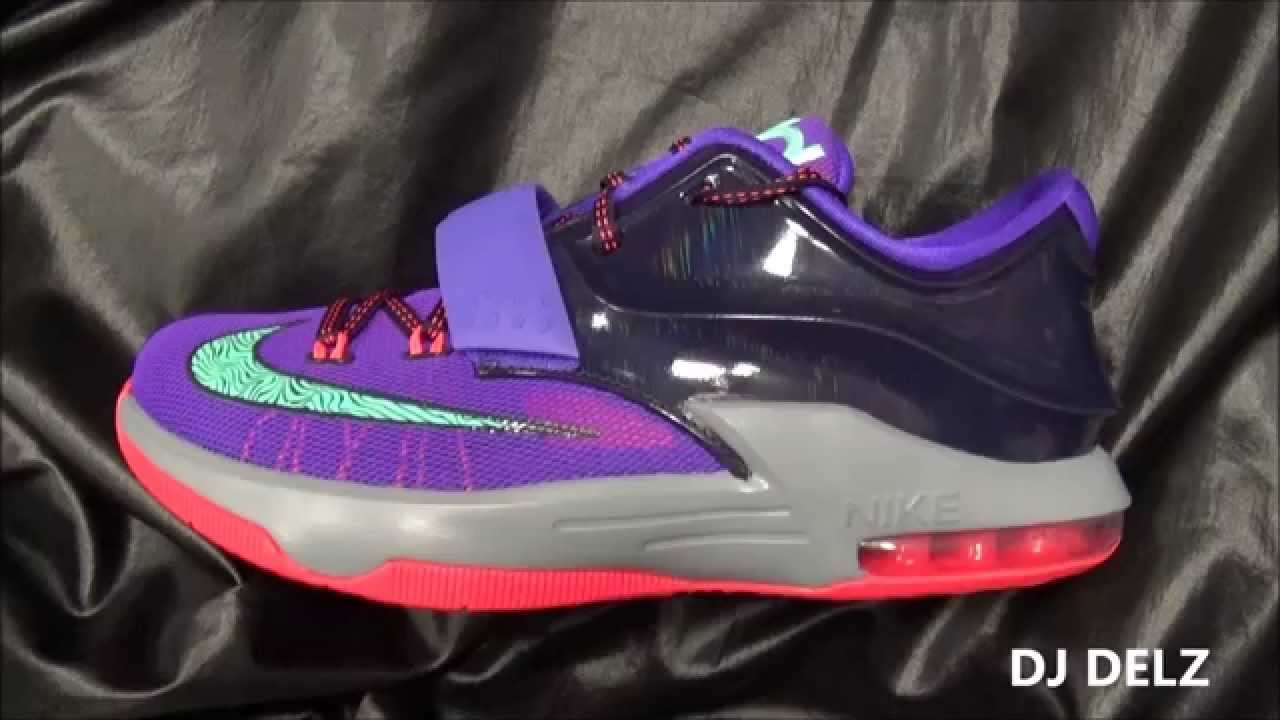 f0f422396398 Nike KD 7 Cave Purple lightning 357 GS Sneaker Review With  DjDelz   HotOrNot - YouTube