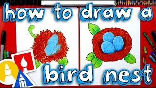How To Draw A Bird's Nest With Eggs