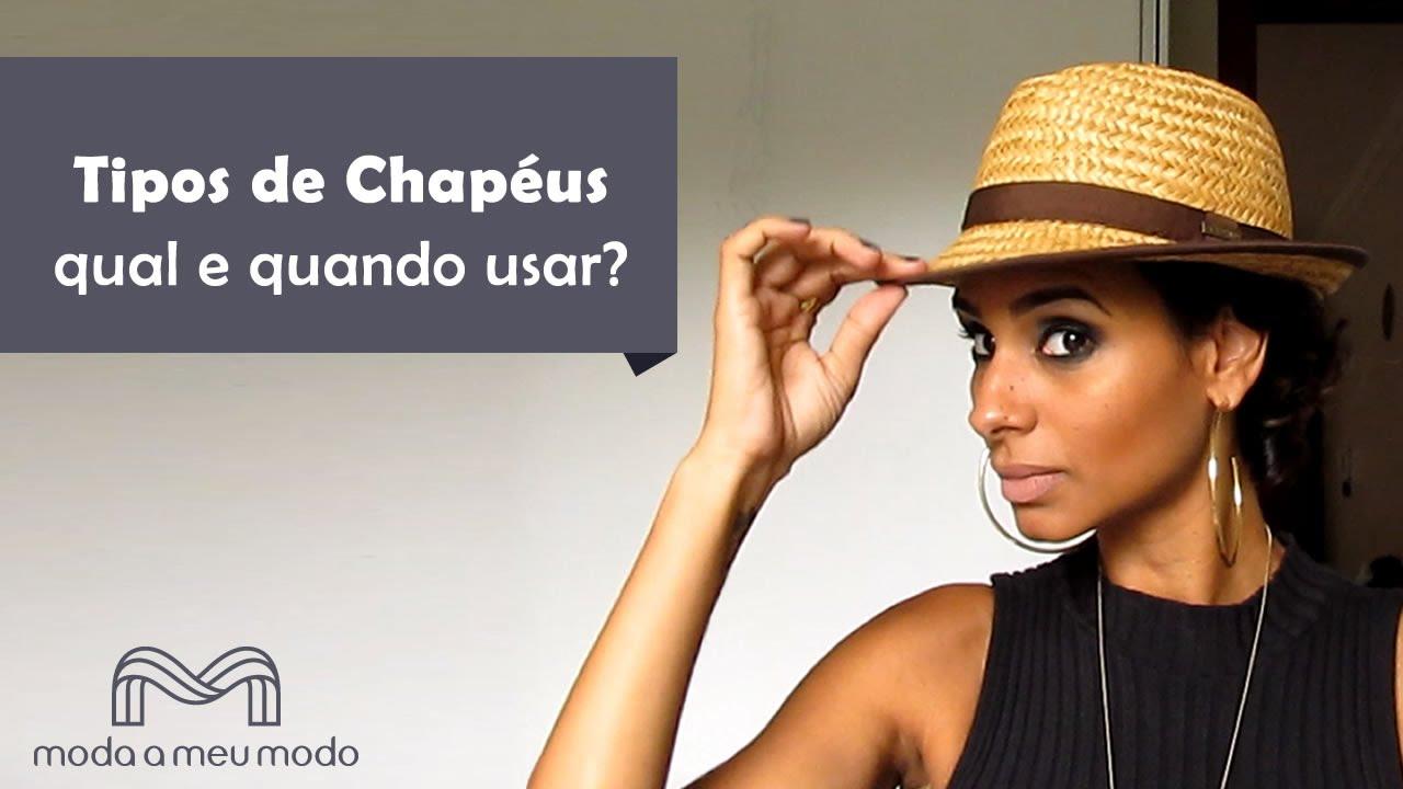 Tipos de Chapéus - Qual e Quando Usar  - YouTube 10aa9b0160a