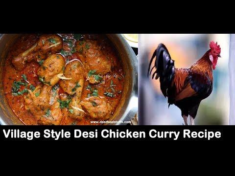 Village Style Desi Chicken Curry Recipe | Desi Murgi Curry | Nati Koli Saaru - Chicken Curry |