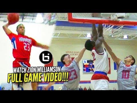 Zion Williamson FULL GAME vs Seventh Wood's Old High School [Spartanburg Day vs Hammond]