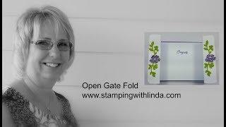 Open Gate Fold Card