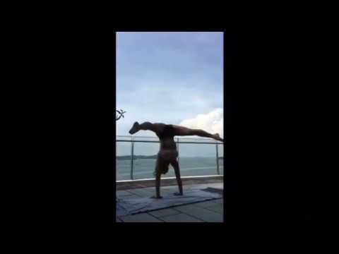 Yoga under the blue sky