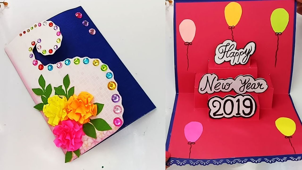how to make new year pop up card handmade new year card idea youtube how to make new year pop up card handmade new year card idea