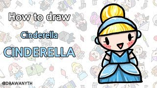 How to draw CINDERELLA / disney