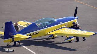 ウィスキーパパ内海昌浩氏のエクストラ EA-300L 離着陸【4K】岡南飛行場にて