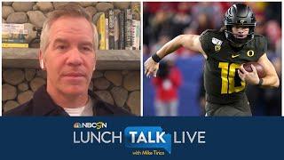 Paul Burmeister breaks down 2020 NFL Draft QB prospects | Lunch Talk Live | NBC Sports