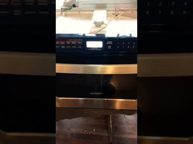 sharp drawer microwave tripping breaker