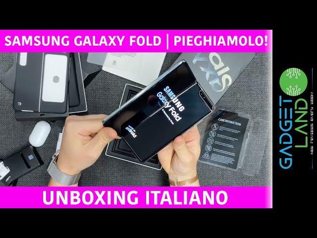 Samsung Galaxy FOLD | Unboxing italiano e contenuto confezione (Buds, cover carbonio) | Pieghiamolo!