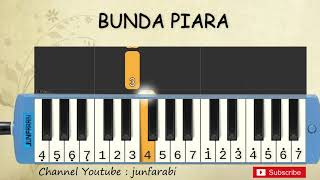 Download Video not pianika bunda piara - tutorial belajar pianika lagu anak - not angka MP3 3GP MP4