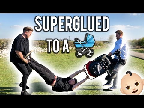 SUPERGLUED MY BRO TO A BABY - PUBLIC NOT HAPPY