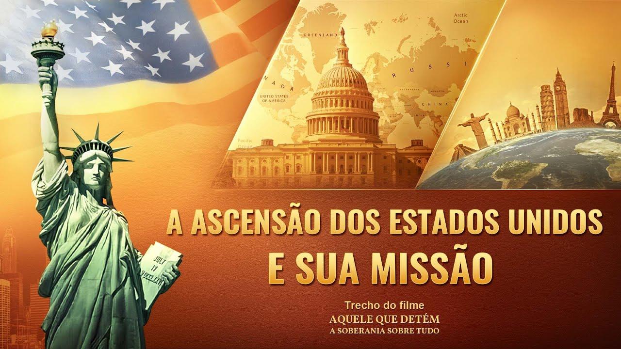 """Música gospel """"Aquele que detém a soberania sobre tudo"""" Clipe 14 - A ascensão dos Estados Unidos e sua missão humanidade"""