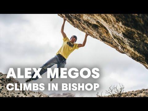 """Alex Megos Climbs """"Lucid Dreaming"""" (8C/V15) in Bishop"""