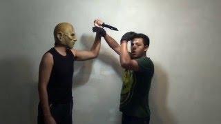 Tecnicas de krav maga contra golpe recto a la cara guillotina y cuchillo / Krav maga en español