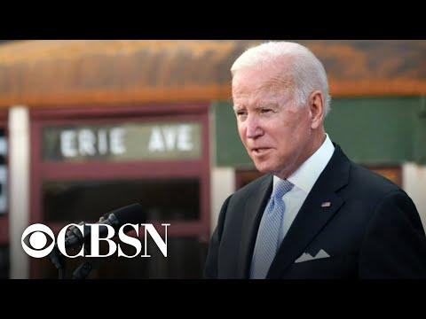 President Biden calls out Senate holdouts as legislative agenda stalls