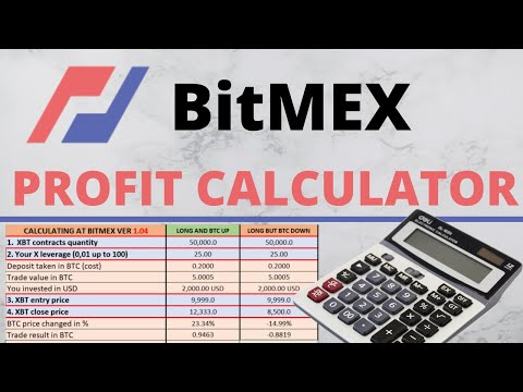 BitMEX CALCULATOR for Profits and Fees calculations in Excel