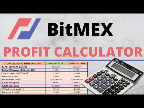 BitMEX Calculator For Profits & Fees MinistryOfMarginTrading com