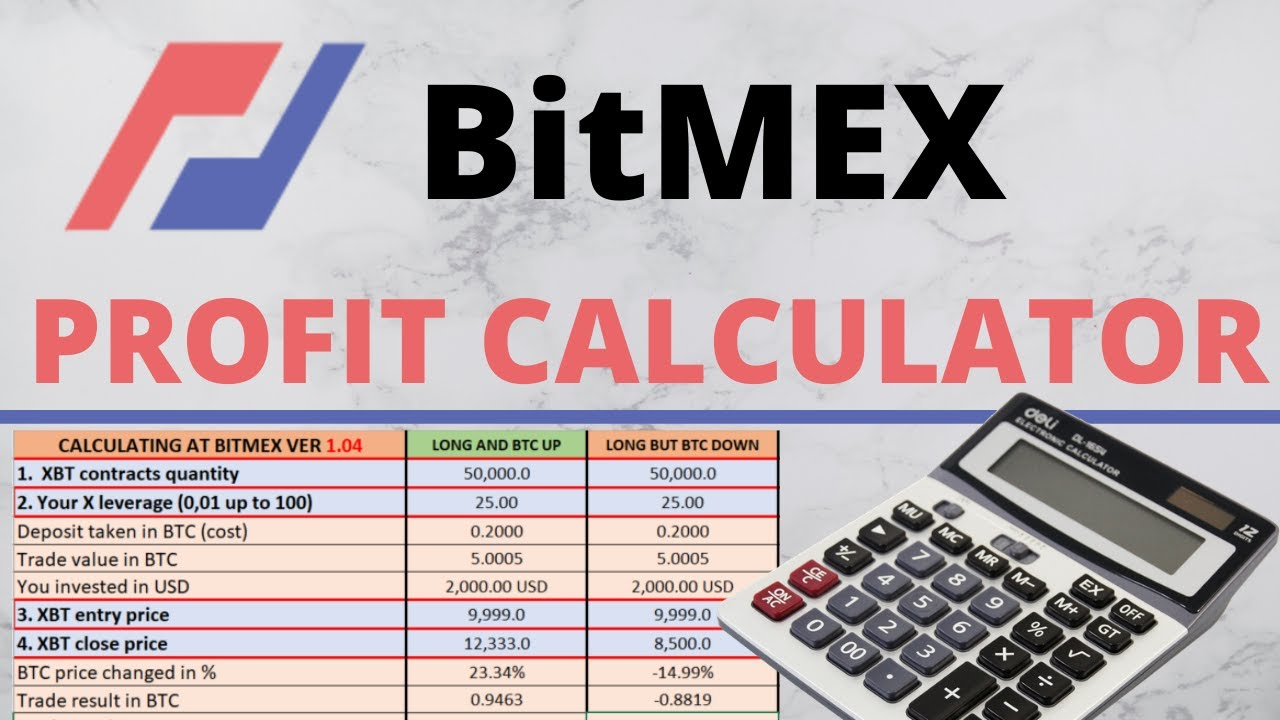BitMEX Calculator For Profits & Fees MinistryOfMarginTrading com