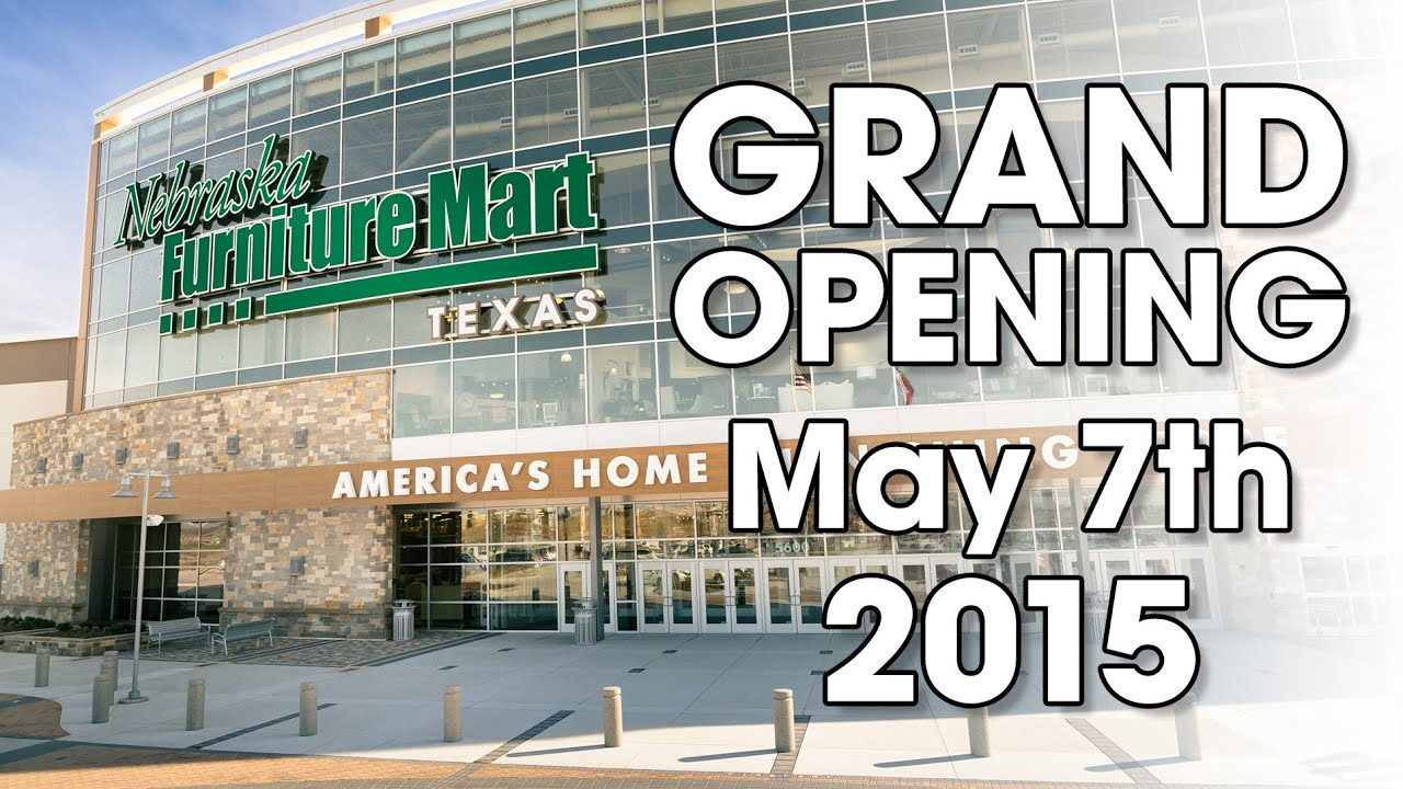 GRAND OPENING Of Nebraska Furniture Mart In Texas