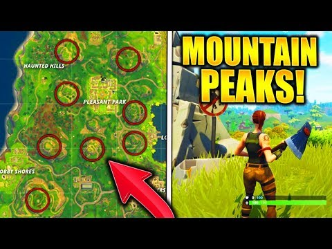 """SUMMIT DIFFERENT MOUNTAIN PEAKS"" FORTNITE LOCATIONS WEEK 6 CHALLENGE HOW TO SUMMIT MOUNTAIN PEAKS!"