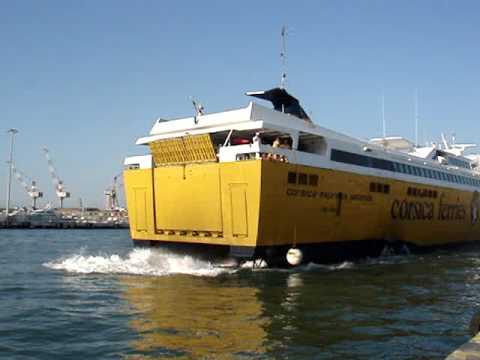 corsica ferries corsica express seconda docking at livorno youtube. Black Bedroom Furniture Sets. Home Design Ideas