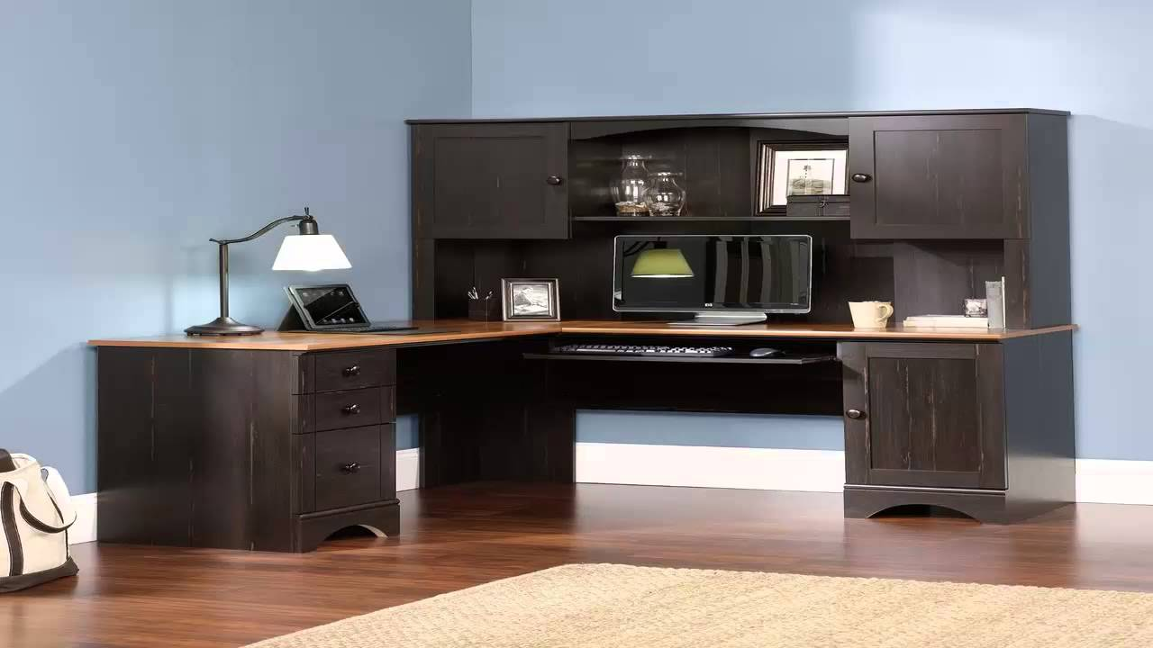 Sauder Desk Hutch Computer Armoire Desk Cabinet Home