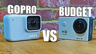 Cheap budget HD Action Cam Vs GoPro Hero 7 White. Whats the difference?