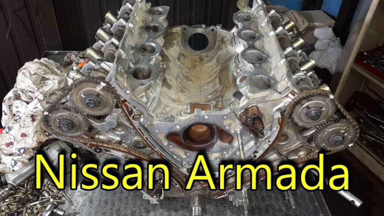2014 Nissan Armada Engine Timing Chain Vin Vk56de 5 6 L V8 Engine Mechanical Tips And Tricks Youtube